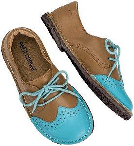 Sapato Infantil Pique-Nique Céu/ Caramelo