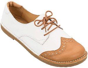 Sapato Infantil Pique-Nique Caramelo/ Branco