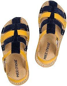 Sandália Infantil Ioiô Bleu/Amarelo