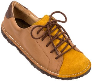 Sapato Infantil Pipa Mostarda/ Caramelo