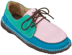Sapato Infantil Dominó Camurça Azul/Doce/Verde