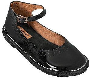 Sapato Infantil Patinete Verniz Noir