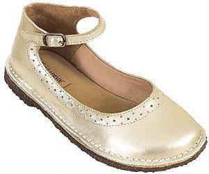 Sapato Infantil Patinete Dourado