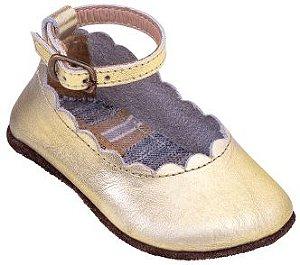 Sapato Boneca Dourado