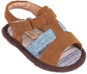 Sandália Infantil Cantiga Melado/Jeans - Mini
