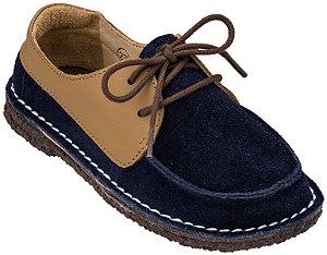 Sapato Infantil Dominó Bleu/Caramelo 22 Black Friday