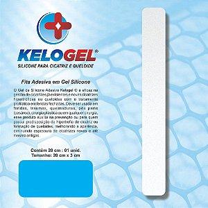 FITA DE SILICONE KELOGEL PARA CICATRIZ HIPERTROFICA E QUELOIDE 20cm x 3cm