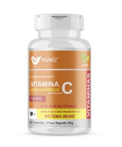 VITAMINA C - ACIDO ASCORBICO 750 MG - 60 CAPS