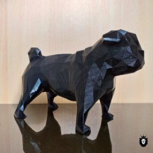 Pug - Cachorro Geométrico