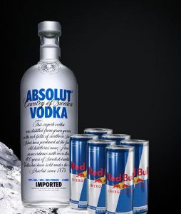 COMBO VODKA ABSOLUT + 6 RED BULL