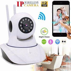 Camera IP WiFi 1080p Visão Noturna P2P ONVIF - 2 antenas