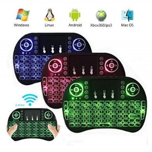 Mini Teclado Wireless Led Colorido Touch Pad Universal Pc Android Tv Smart Box