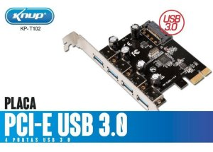Placa Usb 3.0 4 Portas Pci Express Pci-e 5gbps Max Qualidade