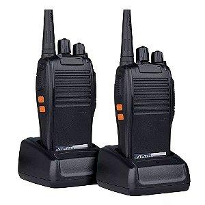 Kit 2 Rádio Comunicador HT Profissional 16 canais VHF UHF  777s