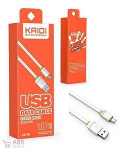 Cabo Dados Usb 1m Micro Usb V8 - Kaidi Kd-305