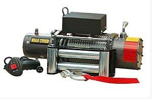 Guincho elétrico 12000LBS com cabo de aço e controle remoto sem fio