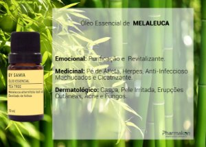 Óleo Essencial de Tea Tree (Melaleuca) 10ml - By Samia