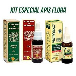 Kit Especial Apis Flora 3 em 1 - Extrato de Própolis Verde, Extrato de Própolis e Propomax - 30ml