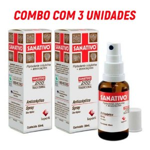 Combo c/ 3 Sanativos Spray Antisséptico   30ml - Laperli