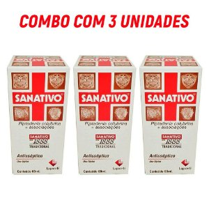 Combo c/ 3 Sanativos Antissépticos  60ml - Laperli