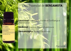 Óleo Essencial de Bergamota 10ml - By Samia