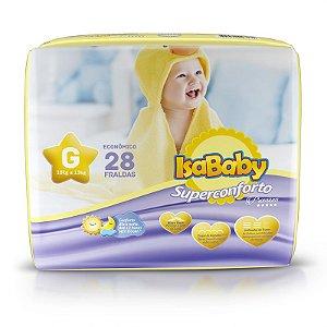 Fralda IsaBaby Premium Jumbo G 28 Unidades