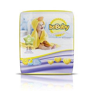 Fralda IsaBaby Premium Jumbinho G 18 Unidades
