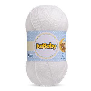Lã IsaBaby Cisne 40g Branca