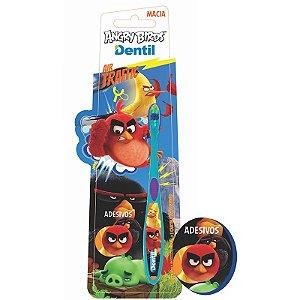 Escova Dental Dentil Angry Birds com Adesivo