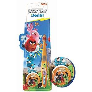 Escova Dental Dentil Angry Birds com Toalha Mágica