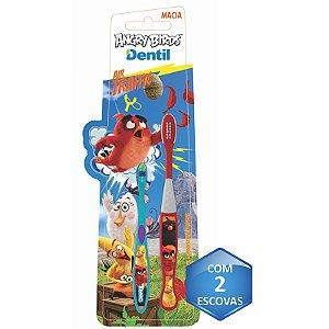 Escova Dental Dentil Angry Birds Irmãos 2 Unidades