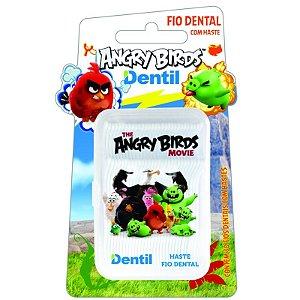 Fio Dental Dentil Angry Birds com Hastes 30 Unidades