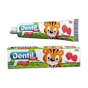 Gel Dental Dentil Kids Zoo Morango 50g