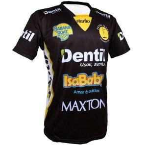 Camiseta Dentil/Praia Clube 2019/2020 – Preta – Com Mangas