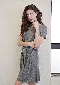 Vestido Nó - Cinza