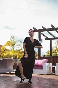 Vestido Fenda - Preto