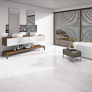 Porcelanato Mármore Polido Exclusive Blanc Carreck Lux (61×61)
