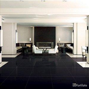 Porcelanato Portilato Super Gloss Absolut Black (80×80)