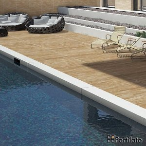 Porcelanato Portilato Rustico Super Gloss Travertino Celta (80cm x 80cm)