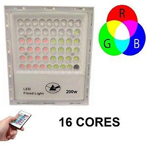 Refletor Holofote Led 200w RGB IP67 Prova D'água Bivolt