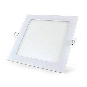 Luminária Plafon Led Embutir 12W quadrada branco quente
