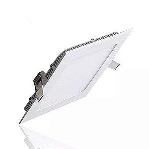 Luminária Plafon Led Embutir 18W quadrada branco frio