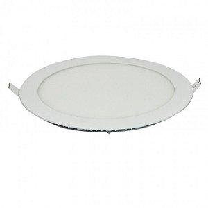 Luminária Plafon Led Embutir 18W redondo branco frio