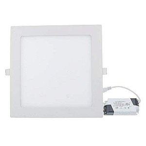Luminária Plafon Led Embutir 25W quadrada branco frio