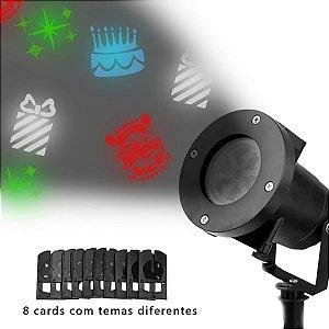Projetor festas Led RGB com desenhos