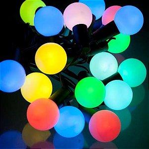 Cordão Led  40 bolinhas Colorido RGB 110V