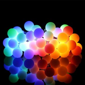 Cordão Fio De Luz Luminária 20 Bolas colorido 110V