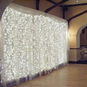 Cortina 500 Leds Luz Fixa 4m X 2,20m Br Fria ou Br Quente Festa e Casamentos M\F