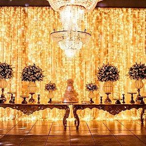 Cortina de Led fixa 4,2 X 3 Mts 900 Leds luzes casamentos e festas