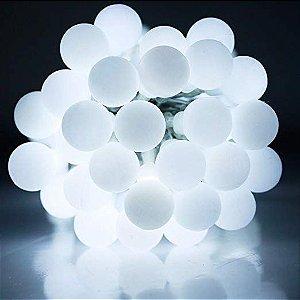 Cordão Fio De Luz Luminária 20 Bolas Branco frio Bivolt